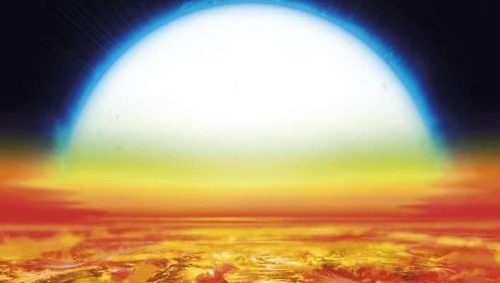 Denis Bajram закат KELT-9b
