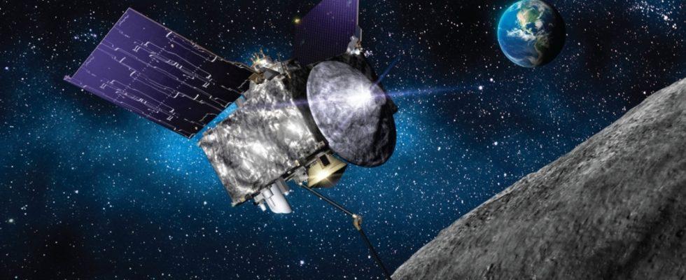 аппарат OSIRIS-REx у астероида Бенну