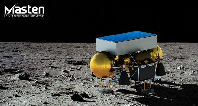 Masten на поверхности Луны