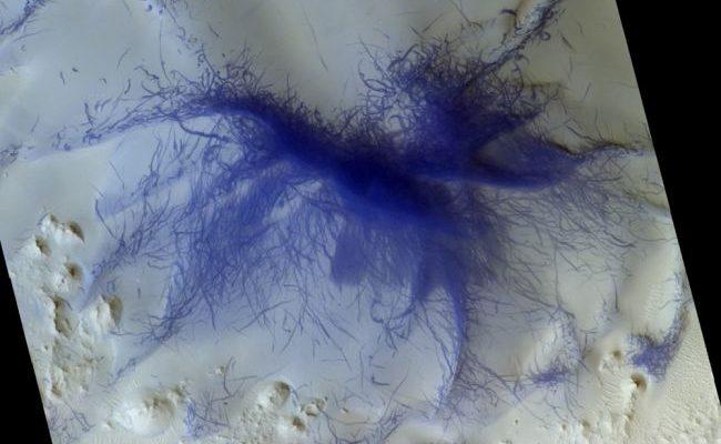 Пылевые вихри Марс