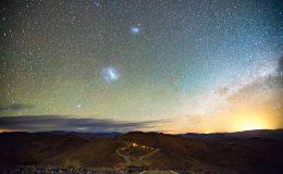Астрофотография Большого и Малого Магеллановых Облаков