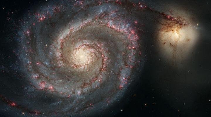Галактика Водоворот (M51a) и галактика-спутник (M51b)