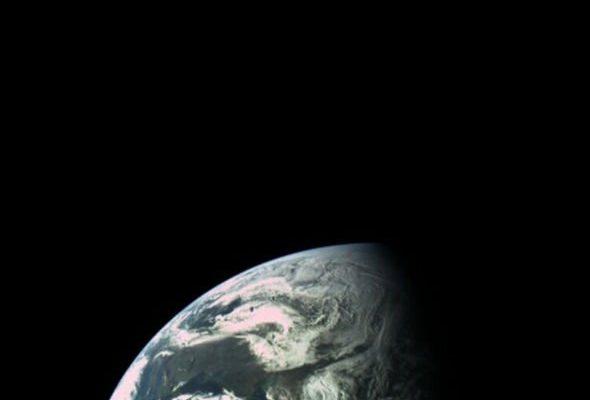 Фотография Земли, сделанная на бортовую камеру Beresheet