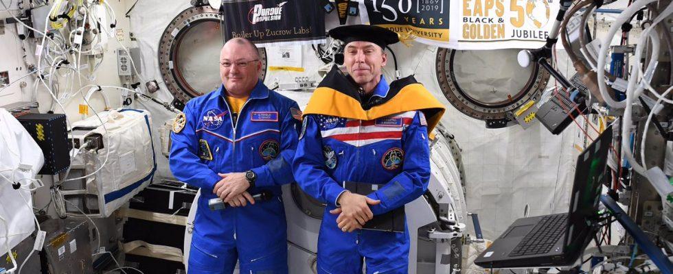 Астронавт NASA Дрю Фейстел на борту МКС