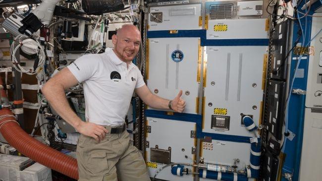 Александр Герст и система ACLS, установленная на МКС