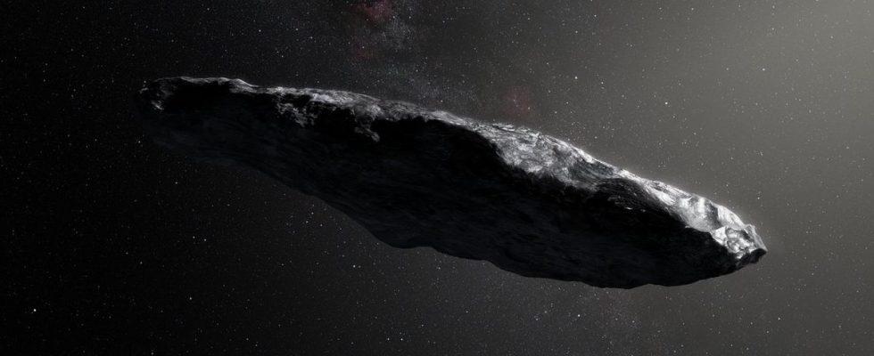 400 метровый астероид Оумуамуа