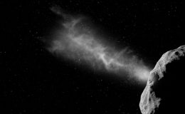 удар аппарата DART о поверхность астероида