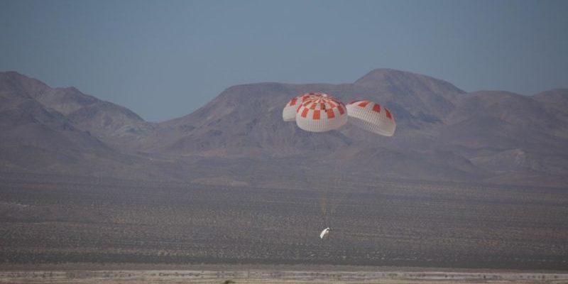 Фотография с апрельских испытаний Crew Dragon