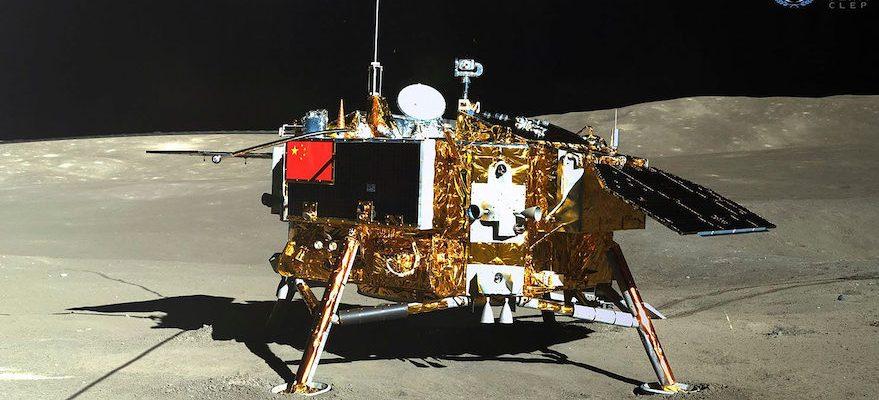 Китайский аппарат Chang'e-4 на обратной стороне Луны