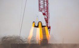 Испытания двигателей SuperDraco на корабле Crew Dragon