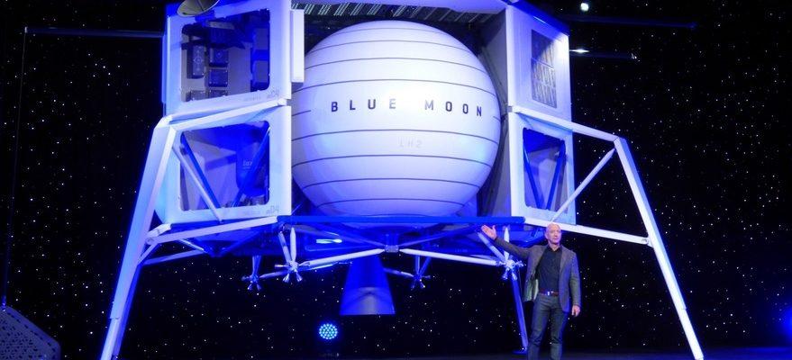 лунный спускаемый аппарат Blue Moon разработки компании Blue Origin