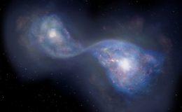 Слияние двух галактик B14-65666