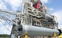 Стендовый образец центральной ступени ракеты SLS