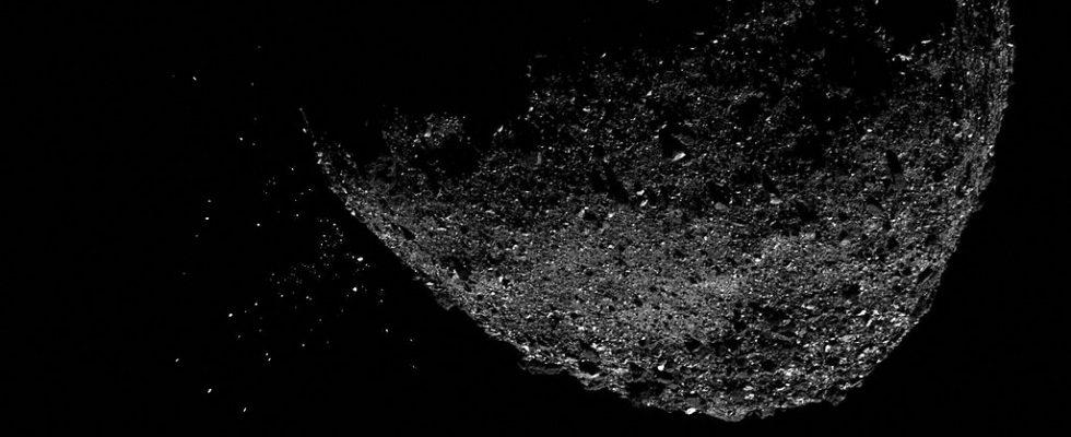 Частицы, парящие вокруг астероида Бенну