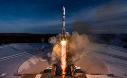 Взлет ракеты-носителя Союз