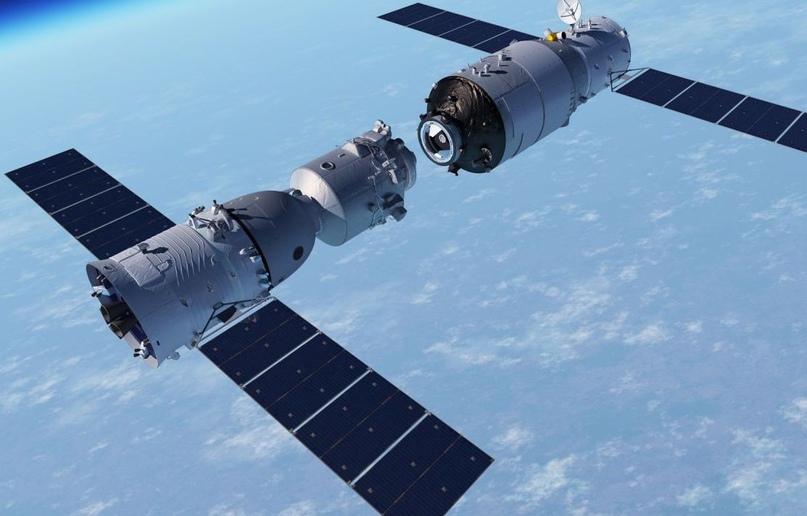 Стыковка космического корабля Shenzhou-8 с орбитальной станцией Tiangong-1.