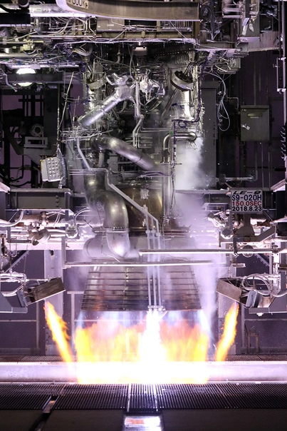 Двигатель LE-9 на испытаниях