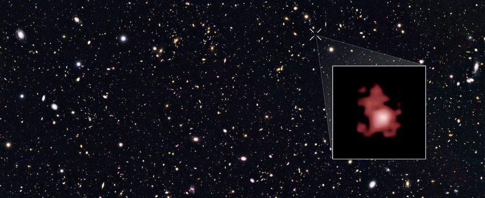 Объект GM-z11 среди галактик в созвездии Большой Медведицы. Источник: NASA